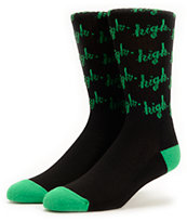 Odd Future Domo High Black Crew Socks