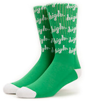 Odd Future Domo High Green Crew Socks