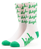 Odd Future Domo High White Crew Socks