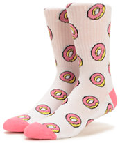 Odd Future Donut Allover Pink Crew Socks