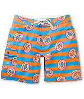 Odd Future Donut Blue & Orange Stripe 19 Board Shorts