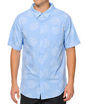 Odd Future Donut Print Button Up Shirt