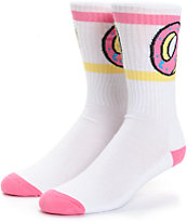 Odd Future Donut White Crew Socks