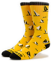 Odd Future Earl Sinking Boat Yellow Crew Socks