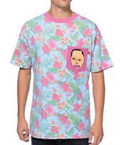 Odd Future Earl Teal Floral Pocket Tee Shirt