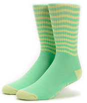 Odd Future Feel Good Mint & Yellow Crew Socks