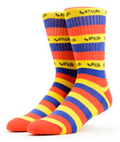 Odd Future Golf Wang Blue, Red & Yellow Crew Socks