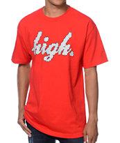 Odd Future High Clouds Red T-Shirt