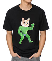 Odd Future MellowHype Beast Cat Black Tee Shirt