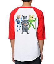 Odd Future MellowHype Toys Red & White Baseball T-Shirt