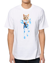 Odd Future MellowHype Ultra Cat White Tee Shirt