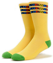 Odd Future OFWGKTA Yellow Gradient Crew Socks