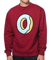 Odd Future Single Donut Red Crew Neck Sweatshirt