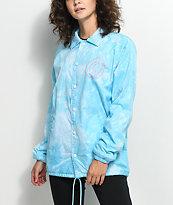 Odd Future Wavy Logo Blue Coaches Jacket
