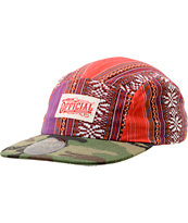 Official Back Cuts Red Native Print & Camo 5 Panel Hat