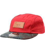 Official Crown Of Laurel Mahalo Cali Red 5 Panel Hat