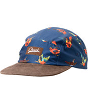 Original Chuck Pajaros Navy & Brown 5 Panel Hat