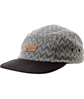 Original Chuck Zig Zag Black & Grey 5 Panel Hat