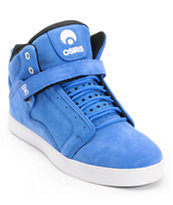 Osiris Bingaman Vulc Mid Blue, Black, & White Skate Shoe