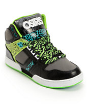 Osiris Kids NYC 83 Black, Green, & Seafoam Skate Shoe