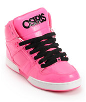 Osiris Kids NYC 83 Pink, Pink & Black Skate Shoe