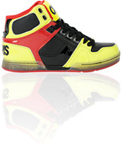Osiris Kids NYC 83 Yellow, Black & Red Skate Shoe