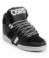 Osiris NYC 83 Black, Grey & Black Sherling Shoes