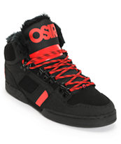 Osiris NYC 83 Black, Red & Shearling Shoe