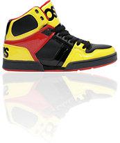 Osiris NYC 83 Black, Yellow & Red Shoe