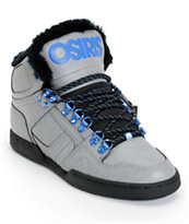 Osiris NYC 83 Grey, Blue & Camp Shearling Shoe