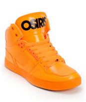 Osiris NYC 83 Orange Blacklight Skate Shoes