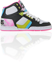 Osiris NYC 83 Slim Black, Pink & Hypertone Shoe