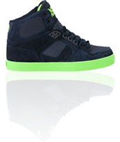 Osiris NYC 83 VLC Navy & Lime Skate Shoe