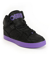 Osiris NYC 83 Vulc Black & Purple Ballistic Shoe