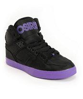 Osiris NYC 83 Vulc Black & Purple Ballistic Shoe