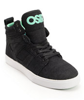 Osiris Raider Black & Mint Denim Skate Shoe