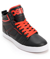 Osiris Raider Black & Red Skate Shoe
