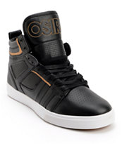 Osiris Raider Black & Tan Leather Skate Shoe