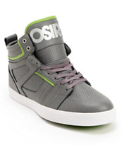 Osiris Raider Charcoal, Leaf Green & Black Skate Shoe