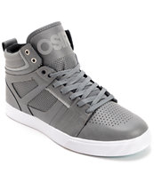Osiris Raider Charcoal, Silver & White Skate Shoe