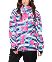 PWDR Room Park Floral Stripe 5K Snowboard Jacket