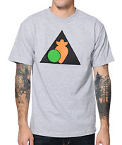Peas & Carrots Triankgle Logo Heather Grey T-Shirt