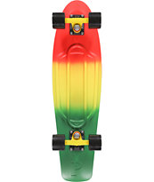 Penny Nickel Red, Yellow, and Green Fade 27 Cruiser Complete Skateboard