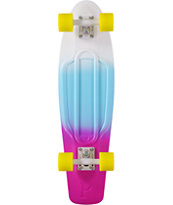 "Penny Nickel White, Blue, & Purple Fade 27"" Cruiser Complete Skateboard"