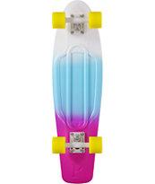 Penny Nickel White, Blue, & Purple Fade 27 Cruiser Complete Skateboard