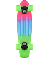 Penny Original Pink, Blue, & Green Fade 22.5 Cruiser Complete Skateboard