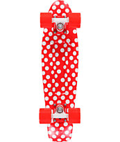 Penny Original Polka Dot Red & White 22 Cruiser Complete Skateboard