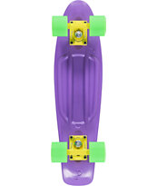 Penny Original Purple, Yellow, & Green Cruiser Complete Skateboard