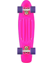 Penny Skateboard Pink, Purple, & White 22 Cruiser Complete