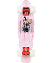 Penny Skateboards LTD Marble White & Red Cruiser Complete